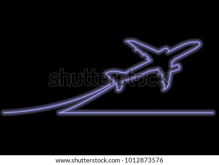 Line Art Effect Photo : One line drawing neon vector effect stock 2018 1012873576