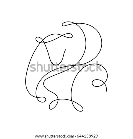 One Line Monkey Design Silhouette.Hand Drawn Minimalism Style Vector  Illustration