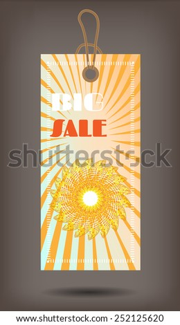 One modern, isolated tag on dark background - stock vector
