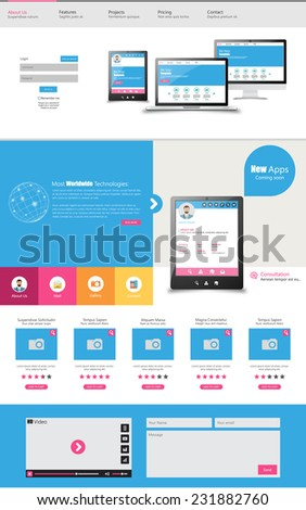 One page business website template home stock vector 231882760 one page business website template home page design clean and simple vector illustration friedricerecipe Choice Image