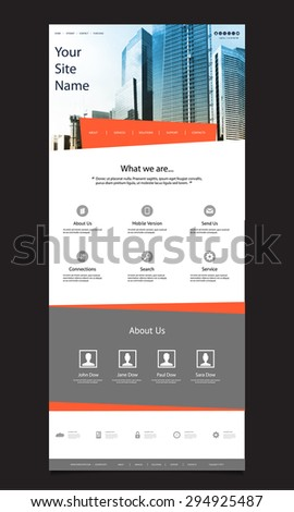 One Page Website Design for Your Business with Skyscraper Background