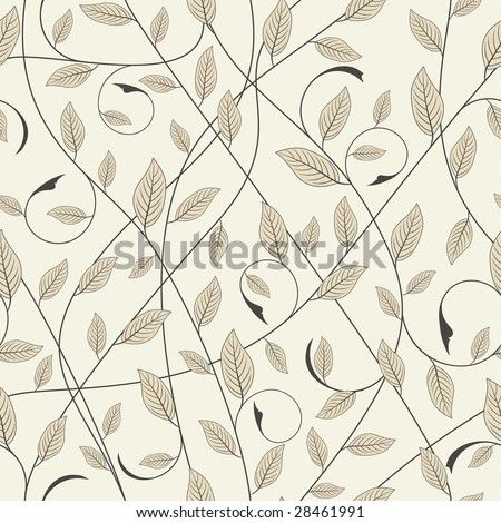 one pattern in floral style - stock vector