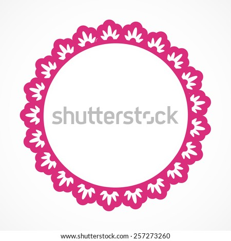One Round Hot Pink Ornate Frame Stock Vector HD (Royalty Free ...