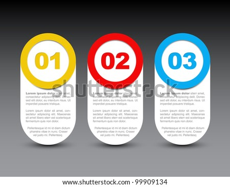 One two three - vector progress icons for four steps - stock vector