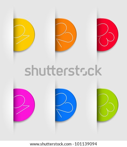 One two three - vector progress icons for three steps - stock vector