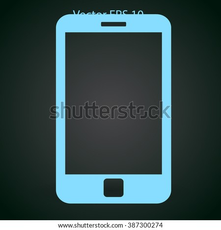 One type of phone - smartphone vector icon