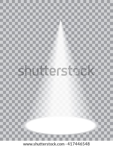 one vector transparent spotlight - stock vector