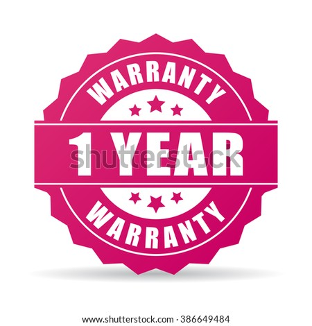 One year warranty icon isolated on white background - stock vector