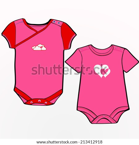 Onesie Template Boys Stock Vector   Shutterstock