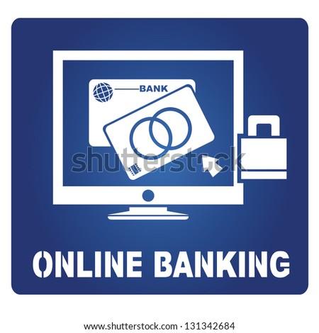online banking - stock vector