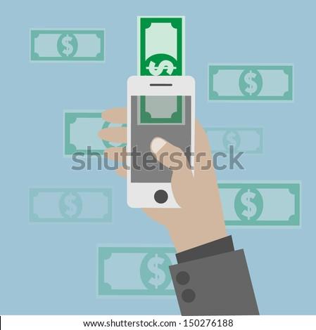 Online banking concept - stock vector