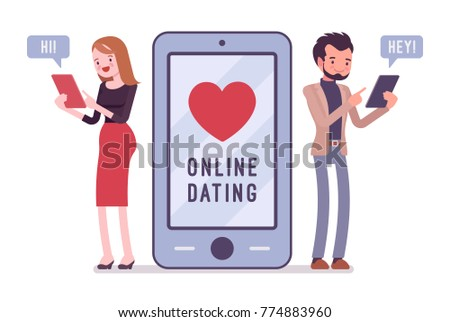 Dating chat between a man and woman