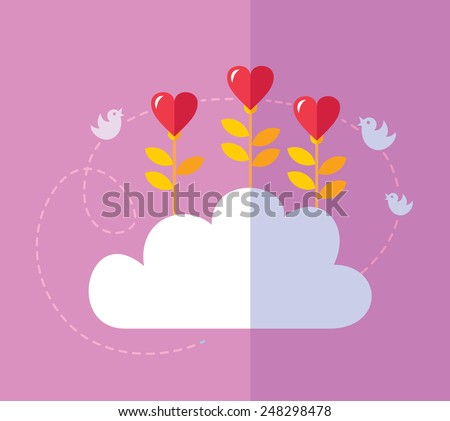 flying hearts dating Illustration of love and valentine day,origami made hot air balloon flying over grass with heart float dating in the city with valentine heart shaped.