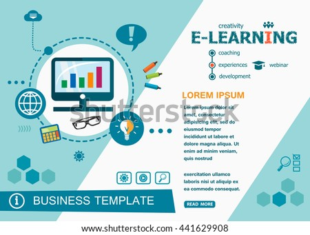 Online e-learning design concepts of words learning and training. Online e-learning flat design banners for website and mobile website, easy to use and highly customizable.