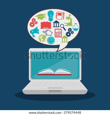 online education design  - stock vector