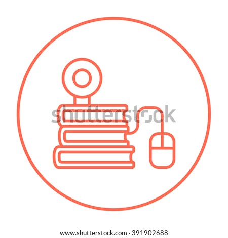 Online education line icon. - stock vector