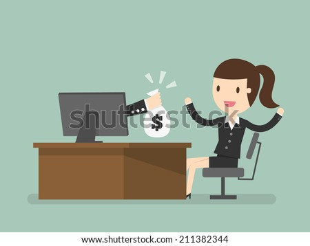 online income - stock vector