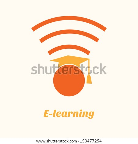 online learning - stock vector