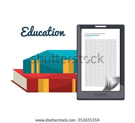 Online learning and education graphic design, vector illustration
