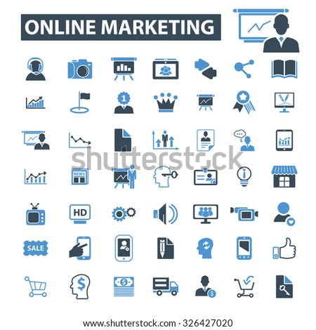 online marketing icons - stock vector