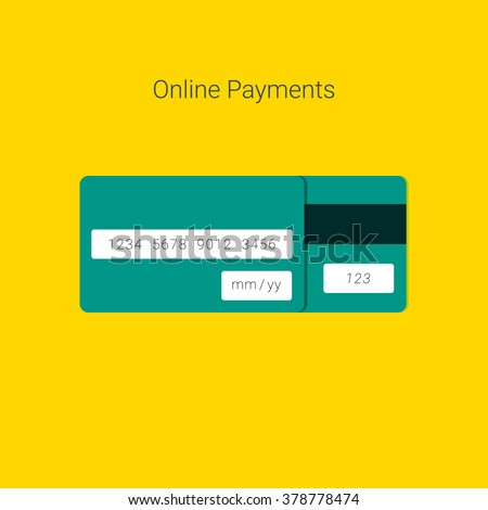 Online Payment Form Template Vector Credit Stock Vector 378778471