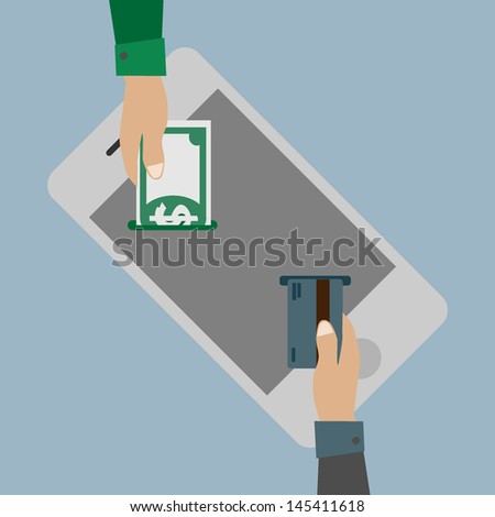 Online payments concept - stock vector