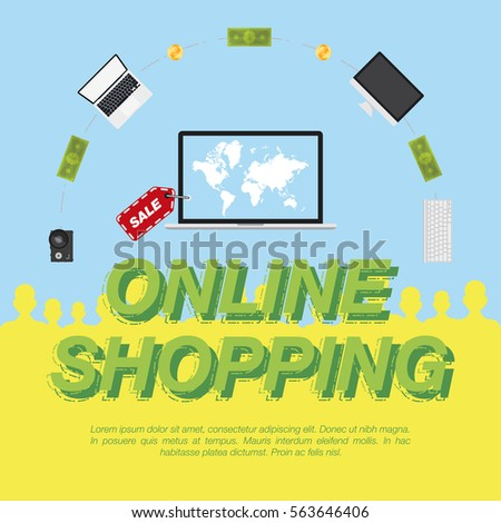 Online shop concept on sale digital stock vector 2018 563646406 concept on the sale of digital technology world map on the screen gumiabroncs Images