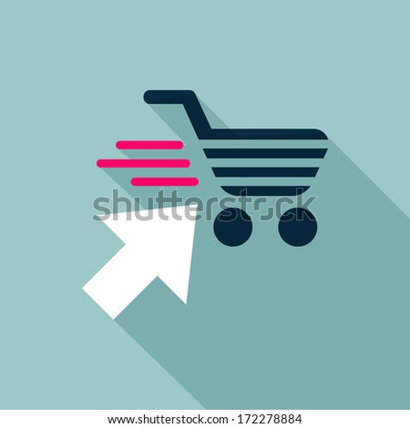 Online shop icon - stock vector