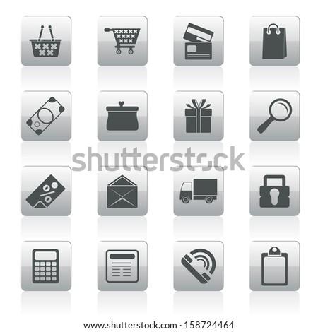 Online shop icons - vector  icon set - stock vector