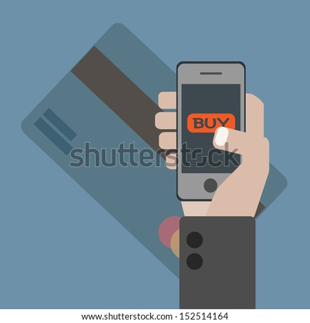 Online Shopping - stock vector