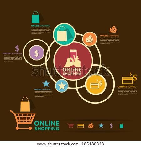 Online Shopping - stock vector