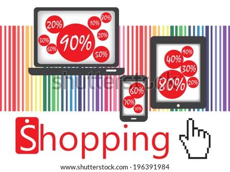 Online shopping concept  - stock vector