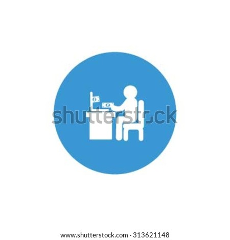 online shopping Icon. Blue Business Pictogram. vector illustration - stock vector