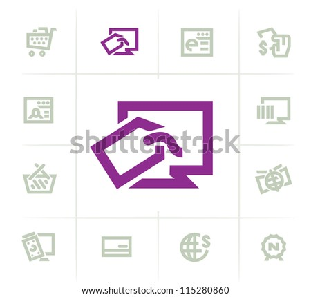 Online Shopping icons - stock vector