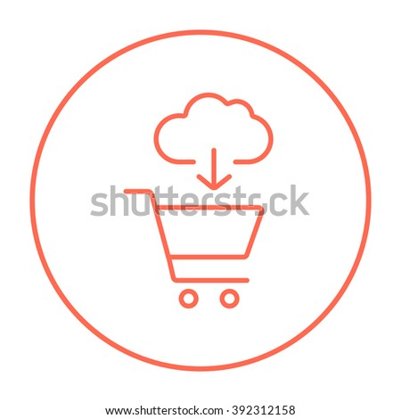 Online shopping line icon. - stock vector