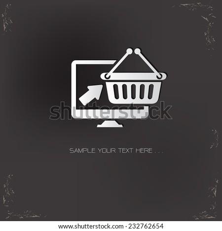 Online shopping symbol,vector - stock vector