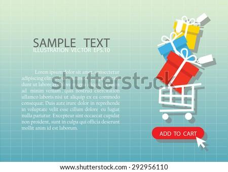 Online shopping ,vector illustration - stock vector