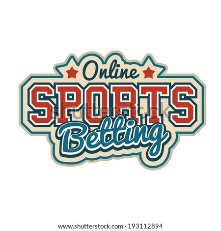 Online Sports Betting Sign - stock vector