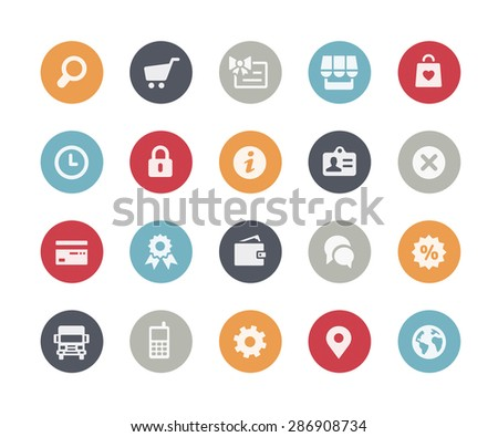 Online Store Icons // Classics Series - stock vector