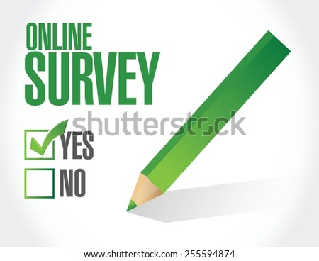 online survey check list illustration design over a white background - stock vector