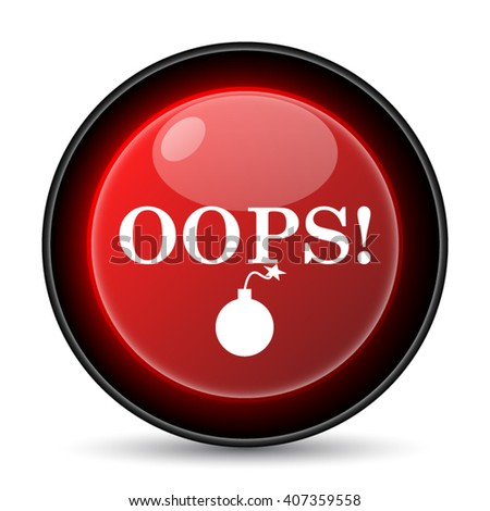 Oops icon. Internet button on white background. EPS10 vector