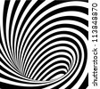 Op art, also known as optical art, is a style of visual art that makes use of optical illusions - stock photo