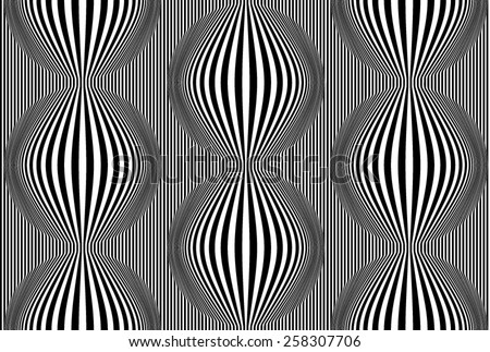 Line Design Op Art : Op art known optical style stock photo vector