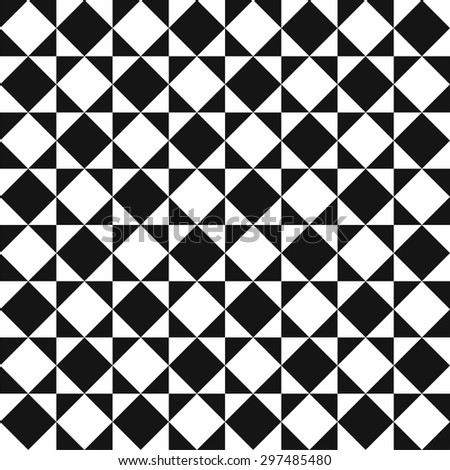 Op art geometric pattern, squares monochrome pattern vector - stock vector