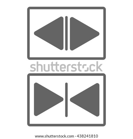 open and closed sign. using in elevator or door. - stock vector