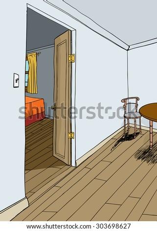 open bedroom door stock images, royalty-free images & vectors