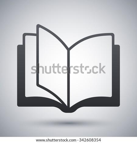 Open book icon, vector - stock vector