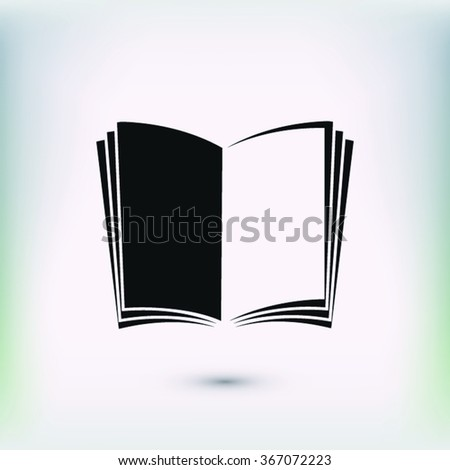 open book icon; vector book icon; illustration; page; education icon; literature icon; library icon; read icon. One of set web icons