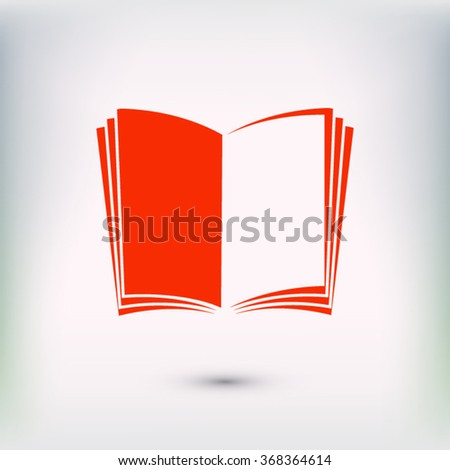 open book icon; vector book icon; illustration; page; education icon; literature icon; library icon; read icon. One of set web icons - stock vector