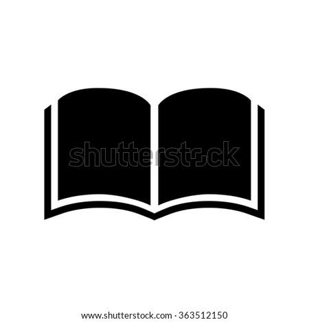 Open book icon . Vector illustration - stock vector